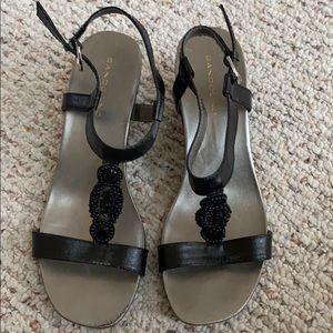 Bandolino black sandal wedges size 6.5